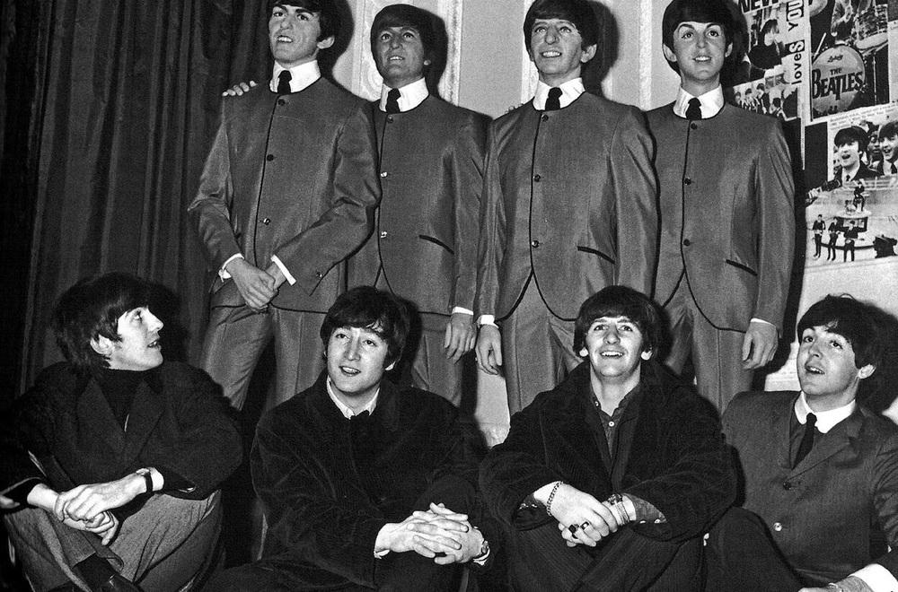 The Beatles at Madame Tussauds, London, April 1964.