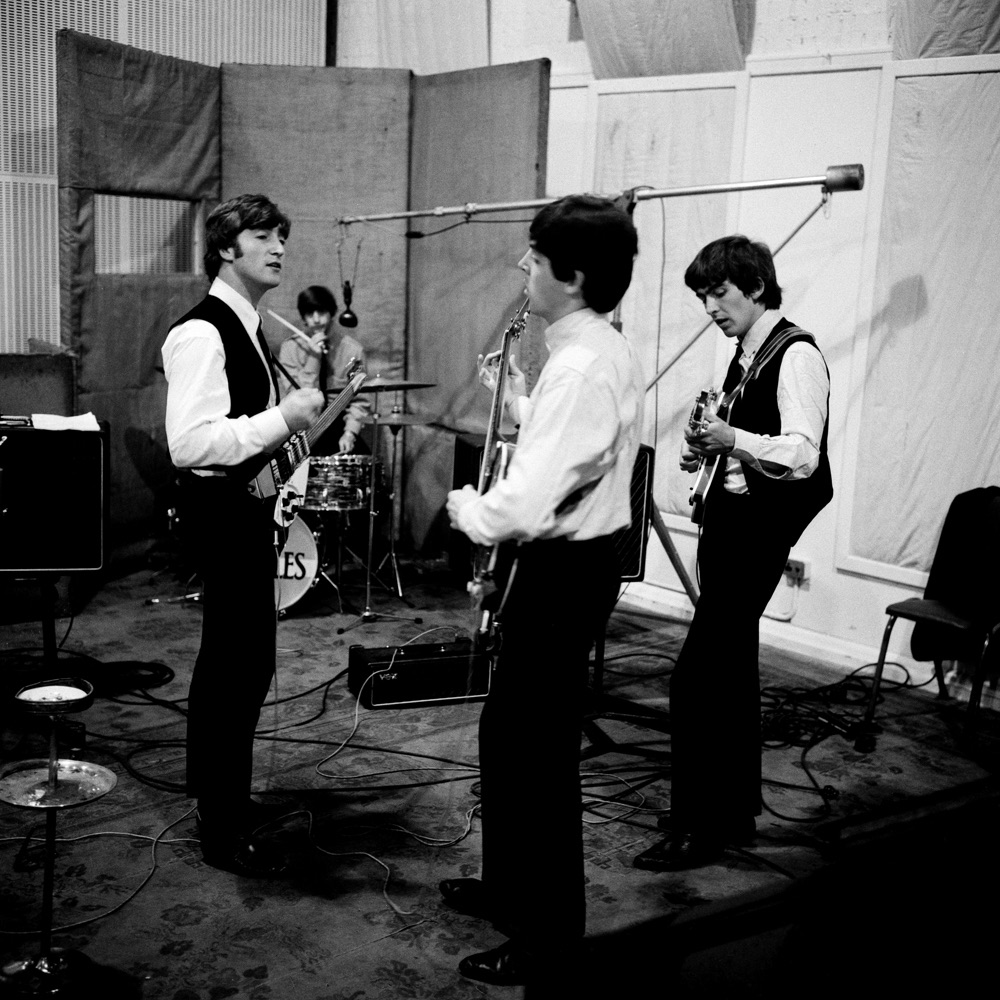 The Beatles recording 'A Hard Day's Night', 1964.