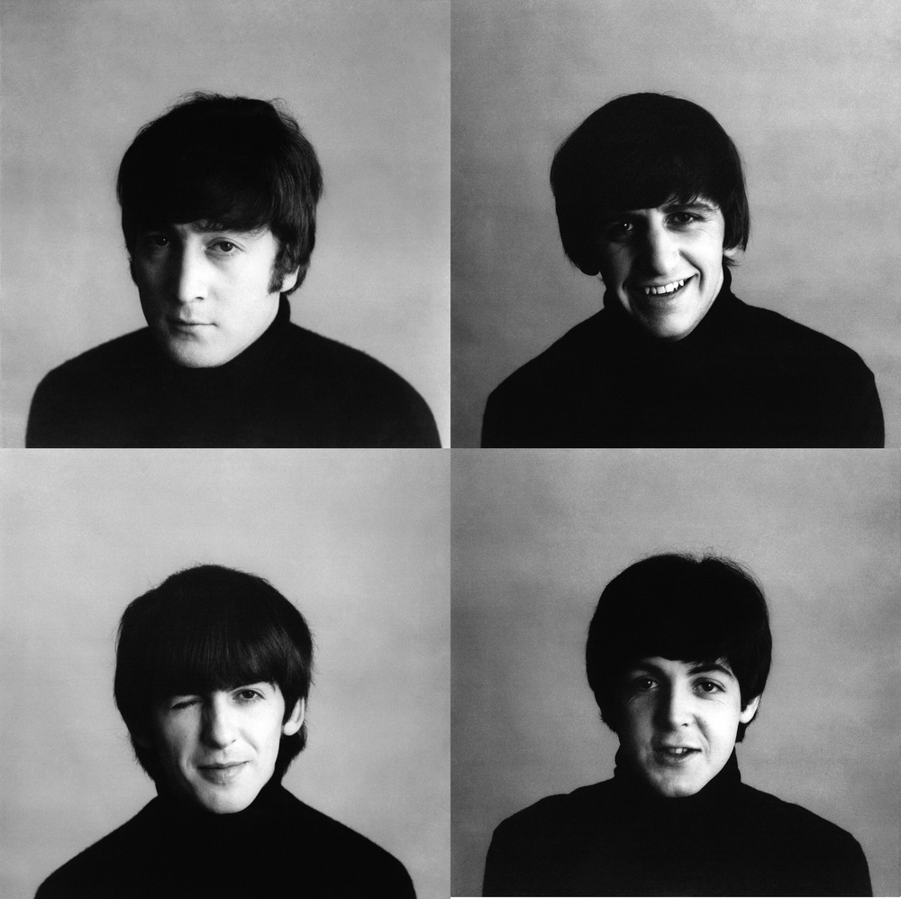 The Beatles' photo session for 'A Hard Day's Night', 1964.