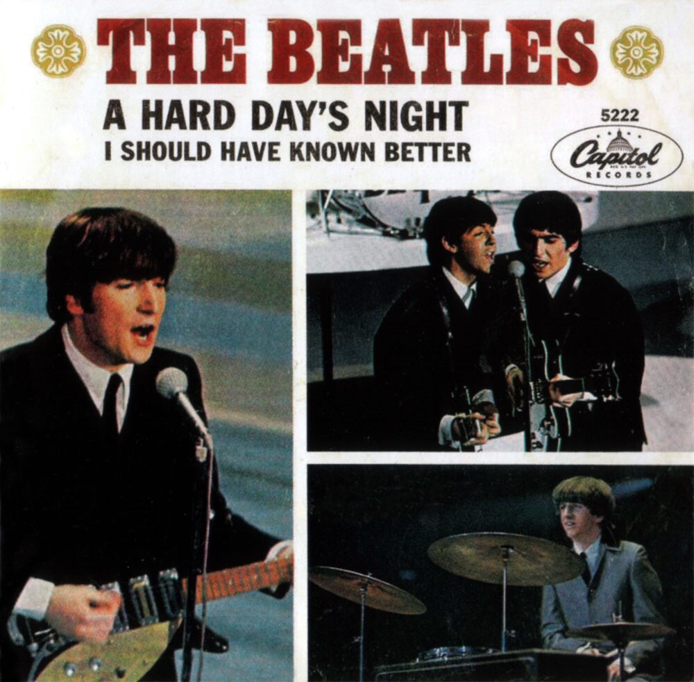 'A Hard Day's Night' US single sleeve, 1964.