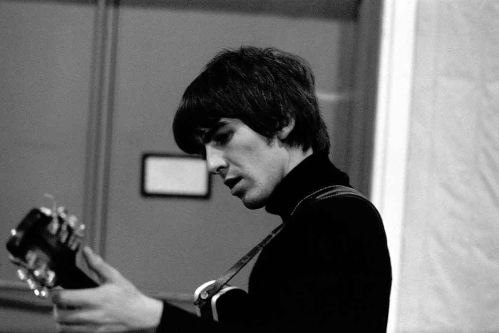 George Harrison working on 'Beatles for Sale', 1964.
