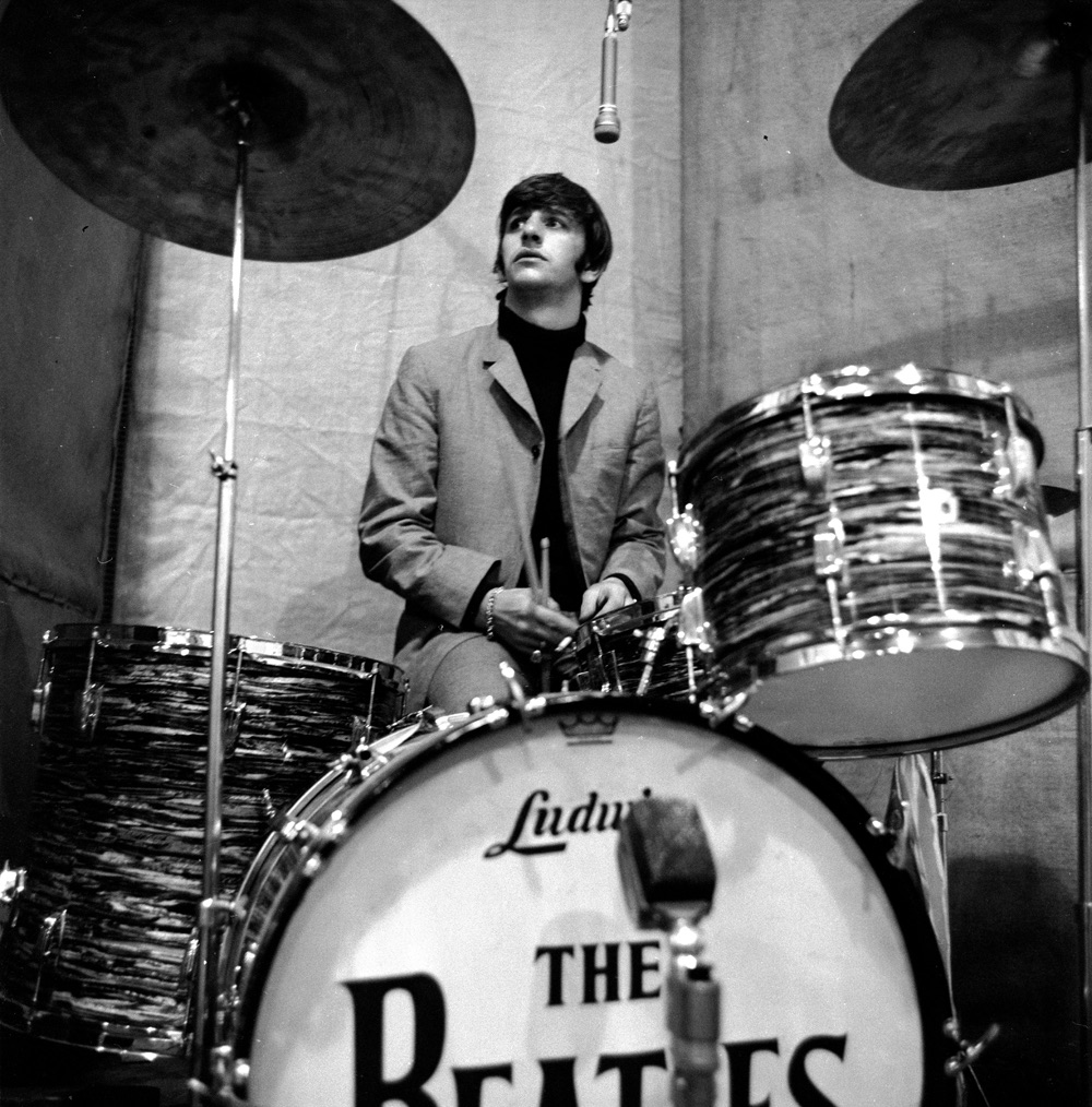 Ringo working on 'Beatles for Sale', 1964.