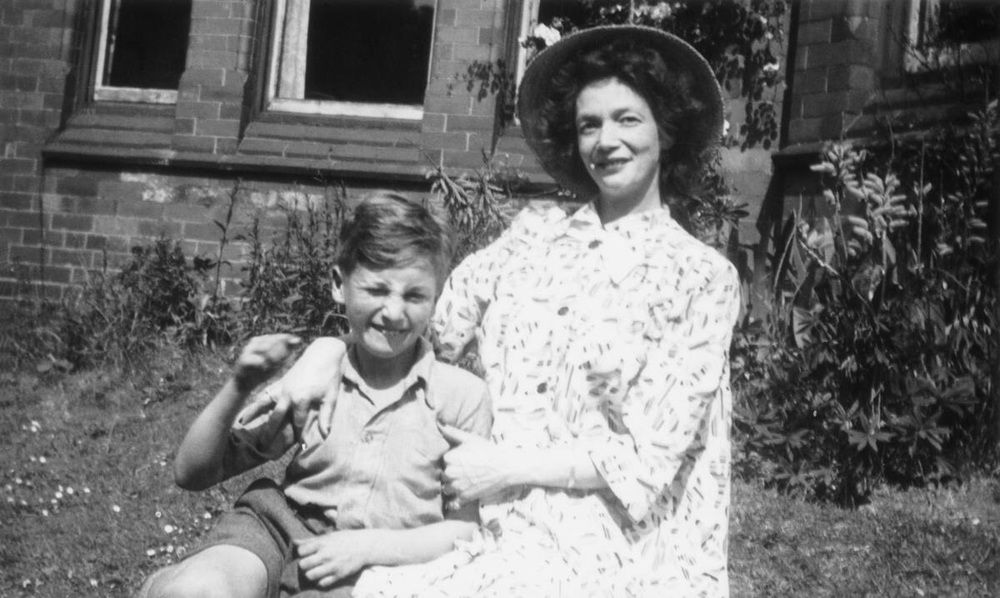 A young John Lennon with his mother Julia.