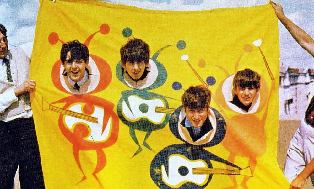 The Beatles dressed as beetles, circa 1964.