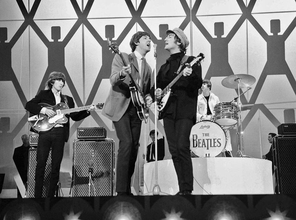The Beatles live, circa 1965.