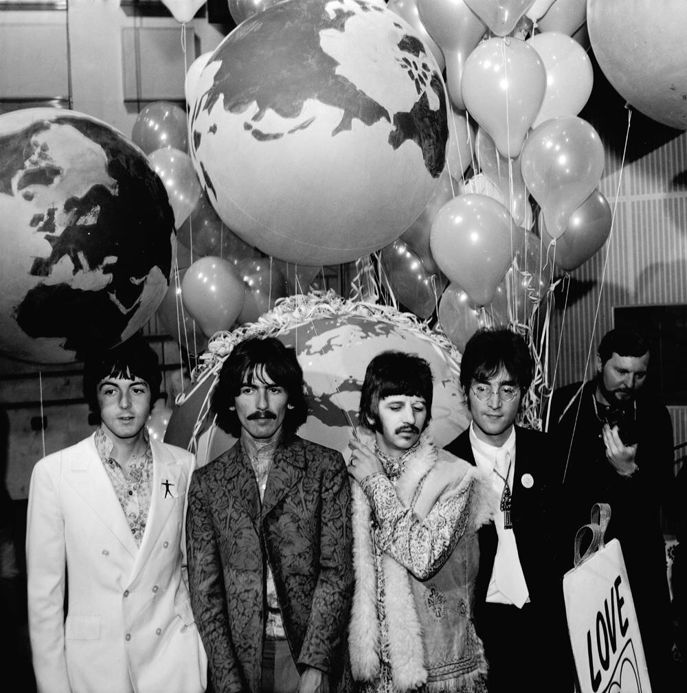 The Beatles promoting All You Need Is Love, 1967.