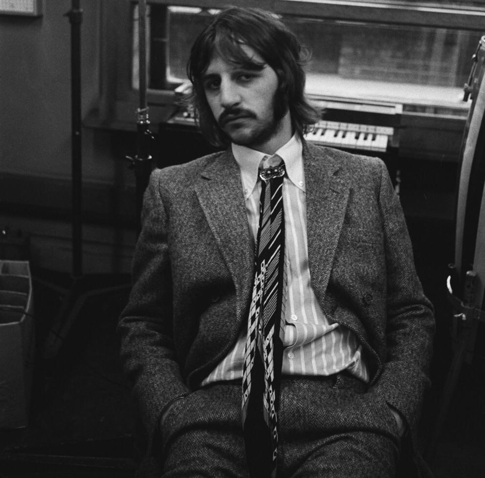 Ringo Starr at Abbey Road Studios, 1969.