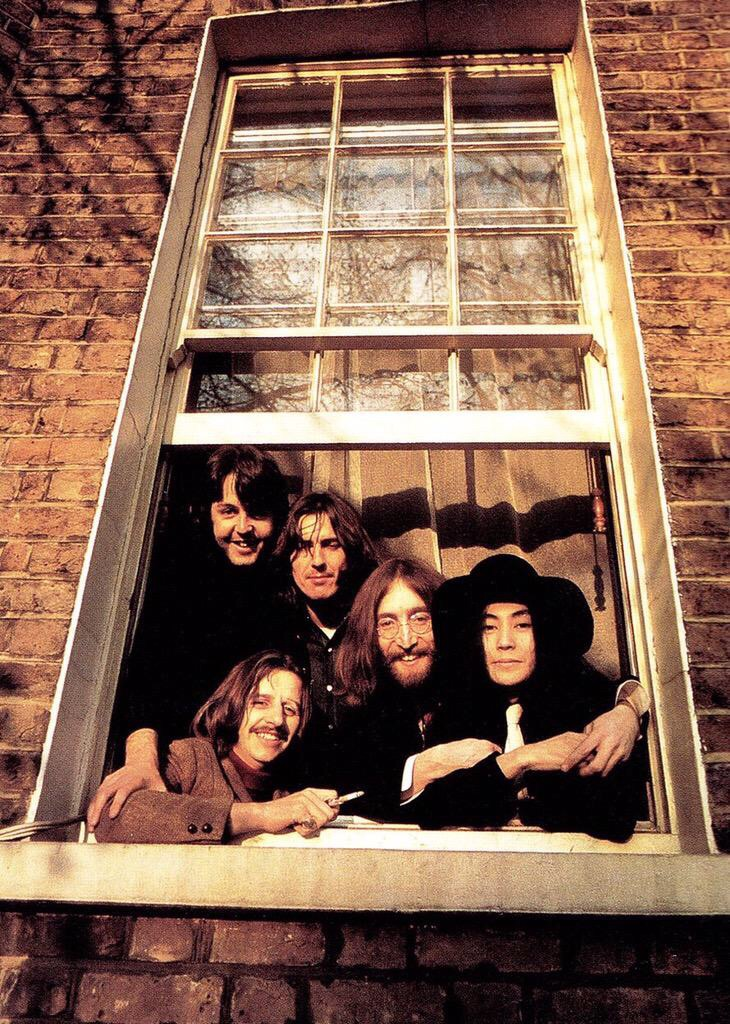The Beatles with Yoko Ono, 1969.