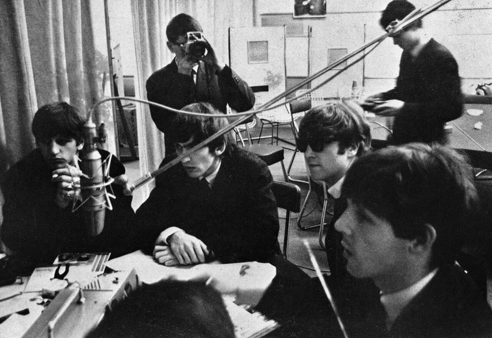 The Beatles at Abbey Road Studios, London, 1964.