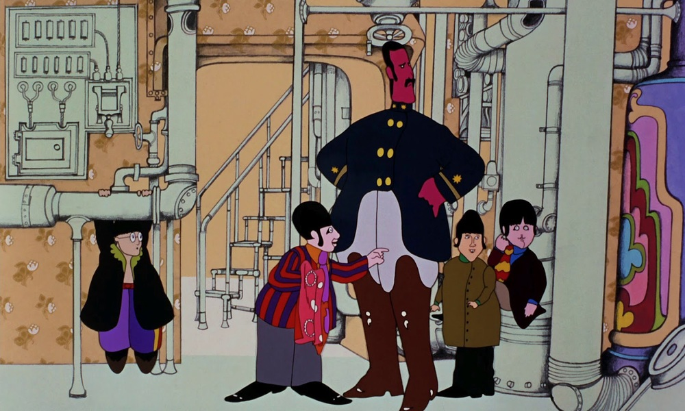 The Beatles in Yellow Submarine, 1968.