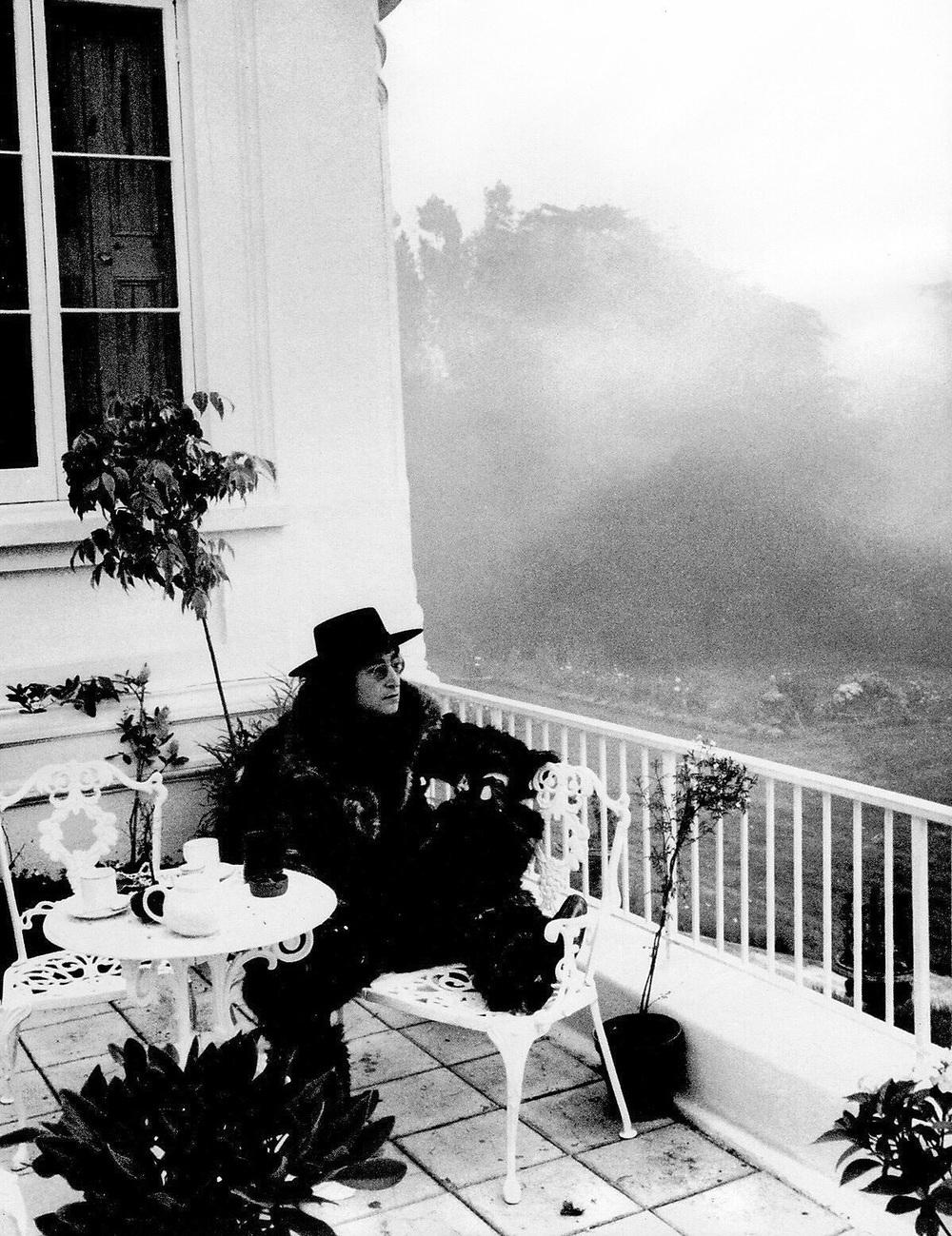John Lennon at Tittenhurst Park, circa 1971.