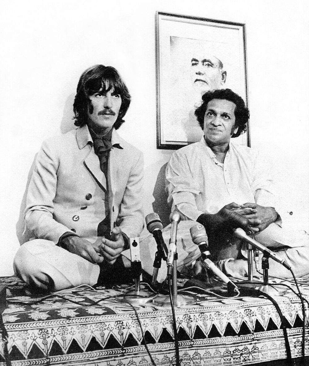 George Harrison and Ravi Shankar, circa 1968.