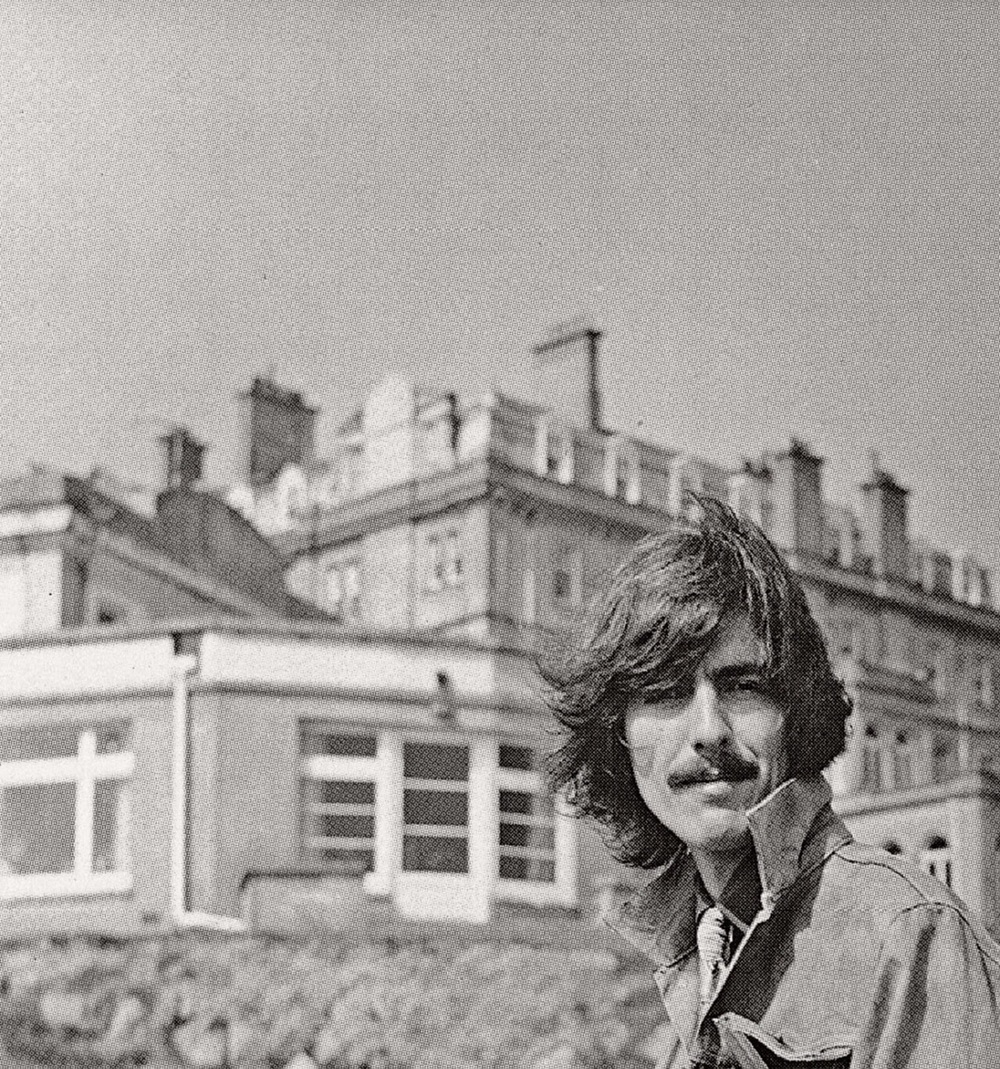 George Harrison during the filming of Magical Mystery Tour, 1967.