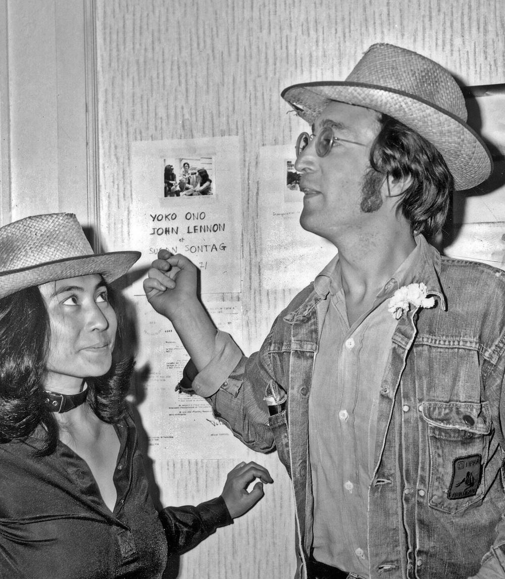 John Lennon and Yoko Ono, circa 1971.