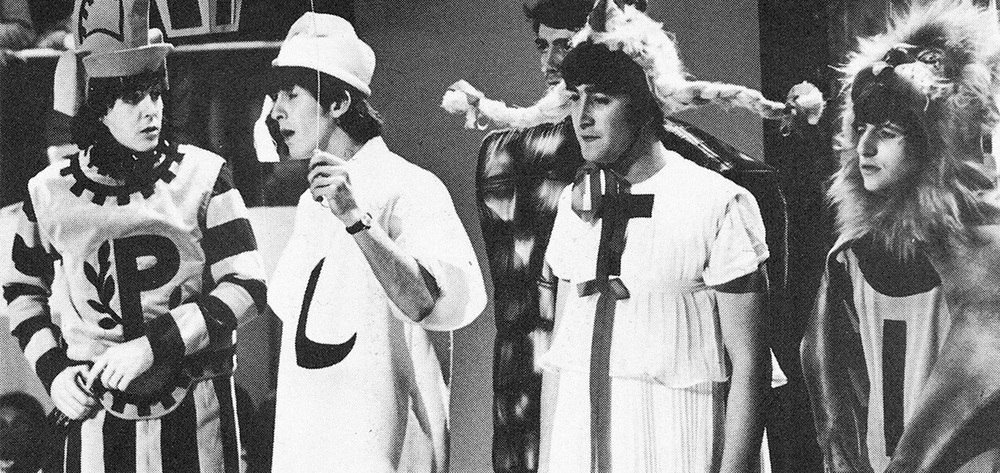 The Beatles celebrate Shakespeare's 400th birthday, 1964.