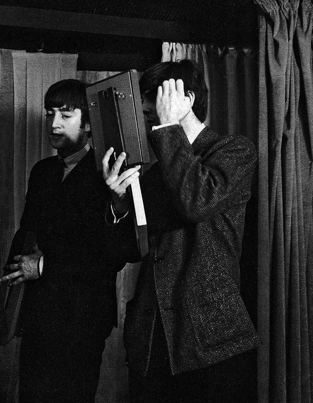 John Lennon and Paul McCartney, circa 1964.