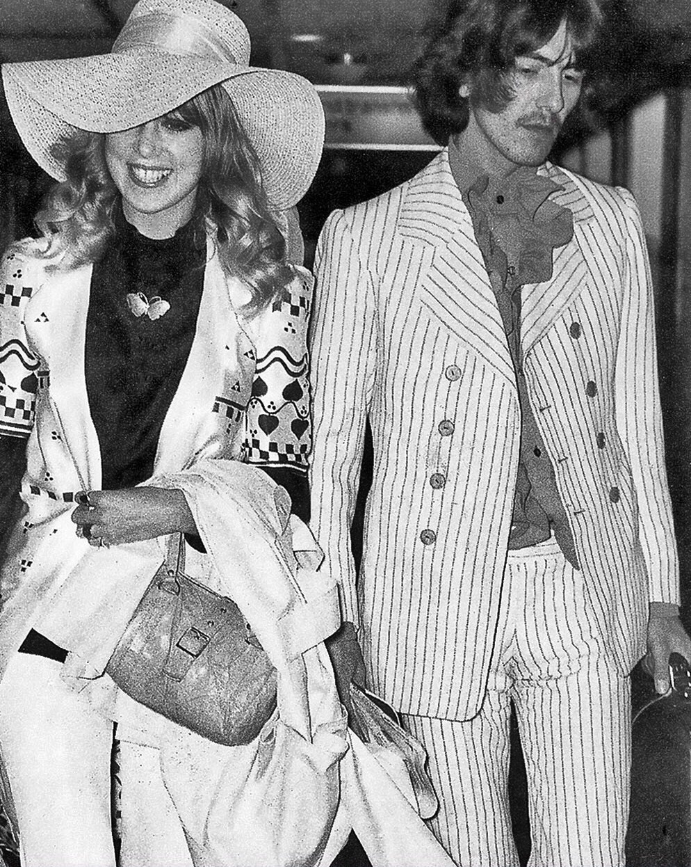 George Harrison with Pattie Boyd, 1968.