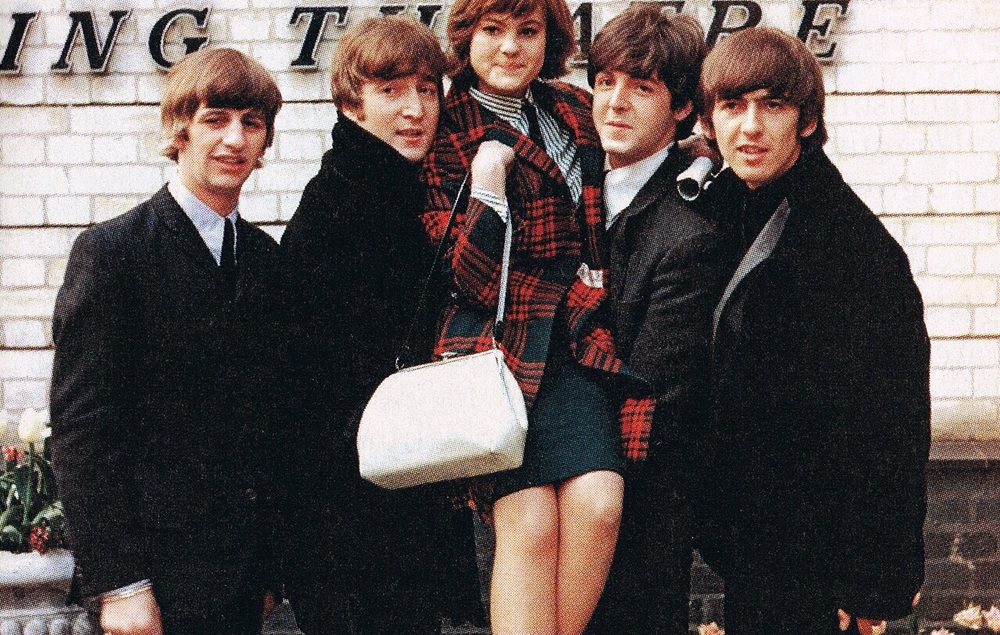 The Beatles carrying one lucky fan, 1964.