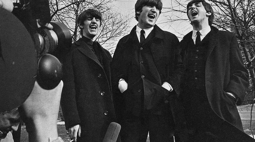 The Beatles in Central Park, New York City, February 1964.