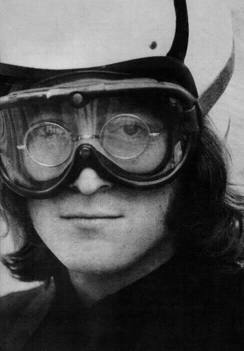 John Lennon on the Beatles' Mad Day Out photo shoot, July 28th, 1968.