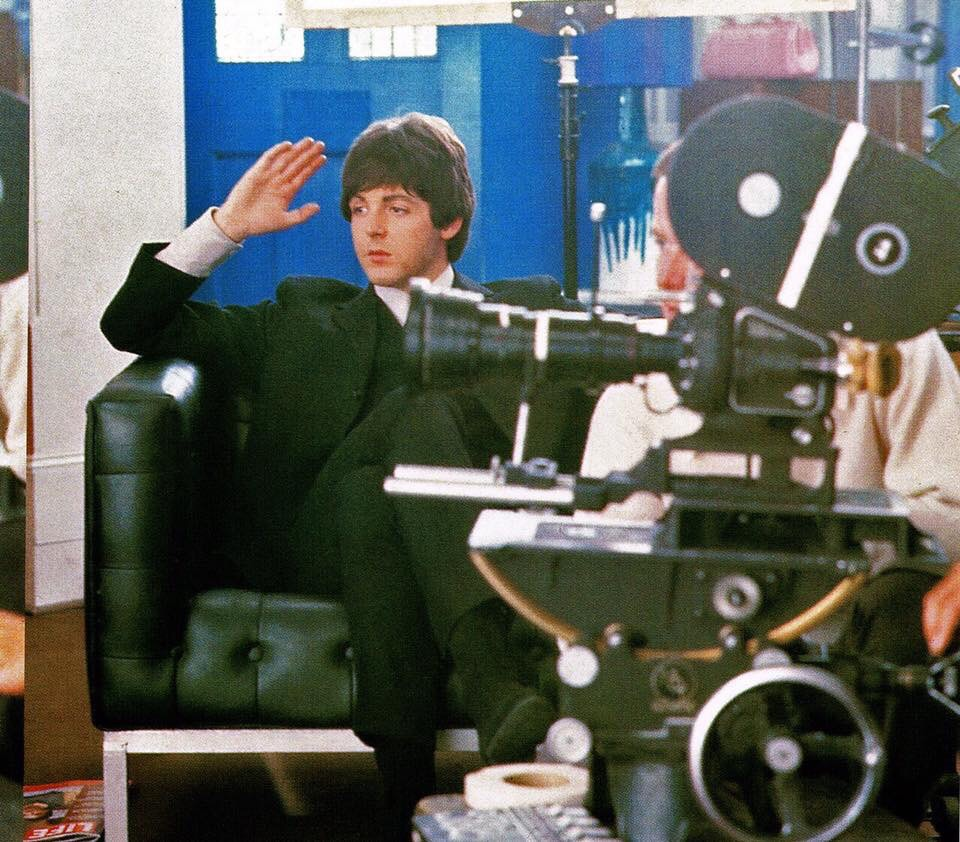 Paul McCartney on the set of Help! 1965.