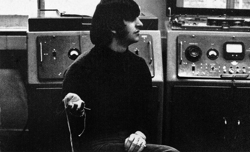 Ringo Starr in the studio, circa 1966.