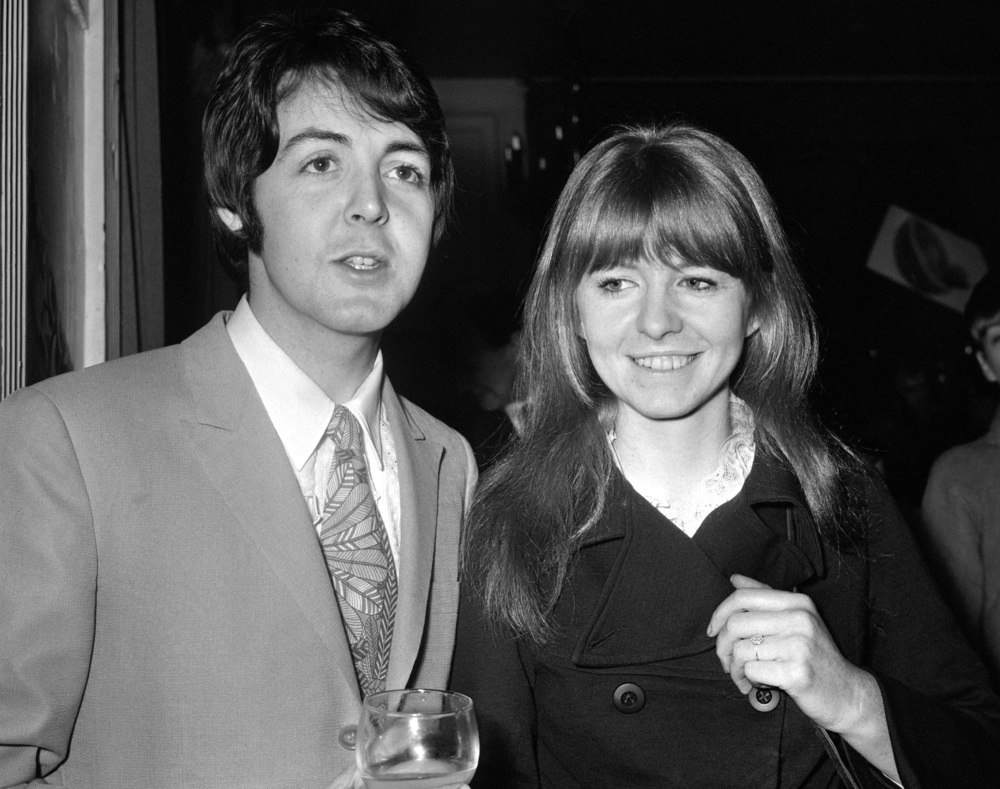 Jane Asher with Paul McCartney, 1968.