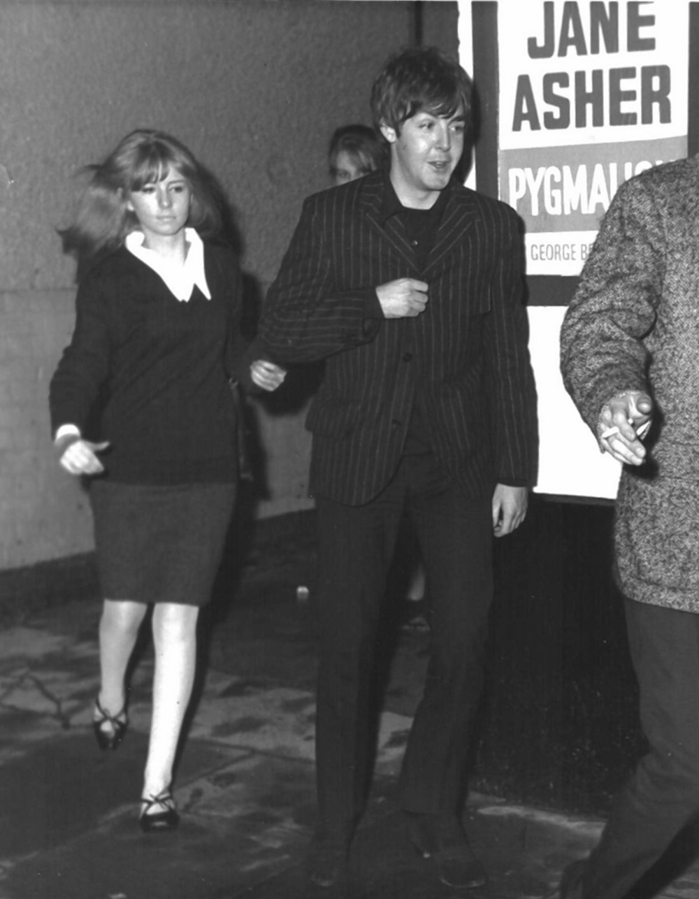 Jane Asher with Paul McCartney, 1965.