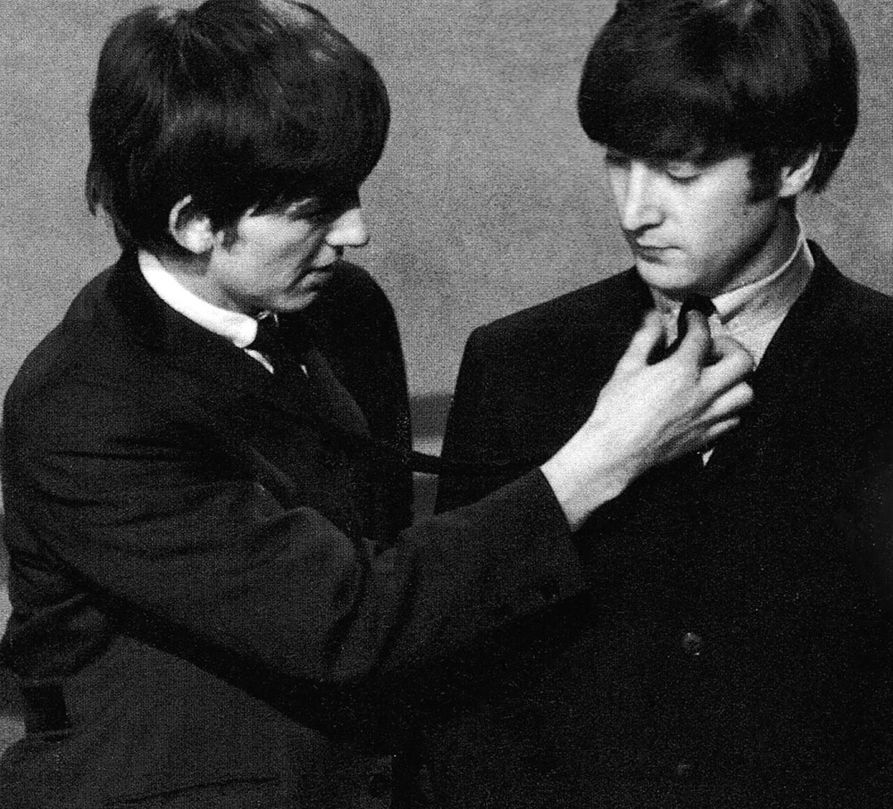 George Harrison and John Lennon, 1964.