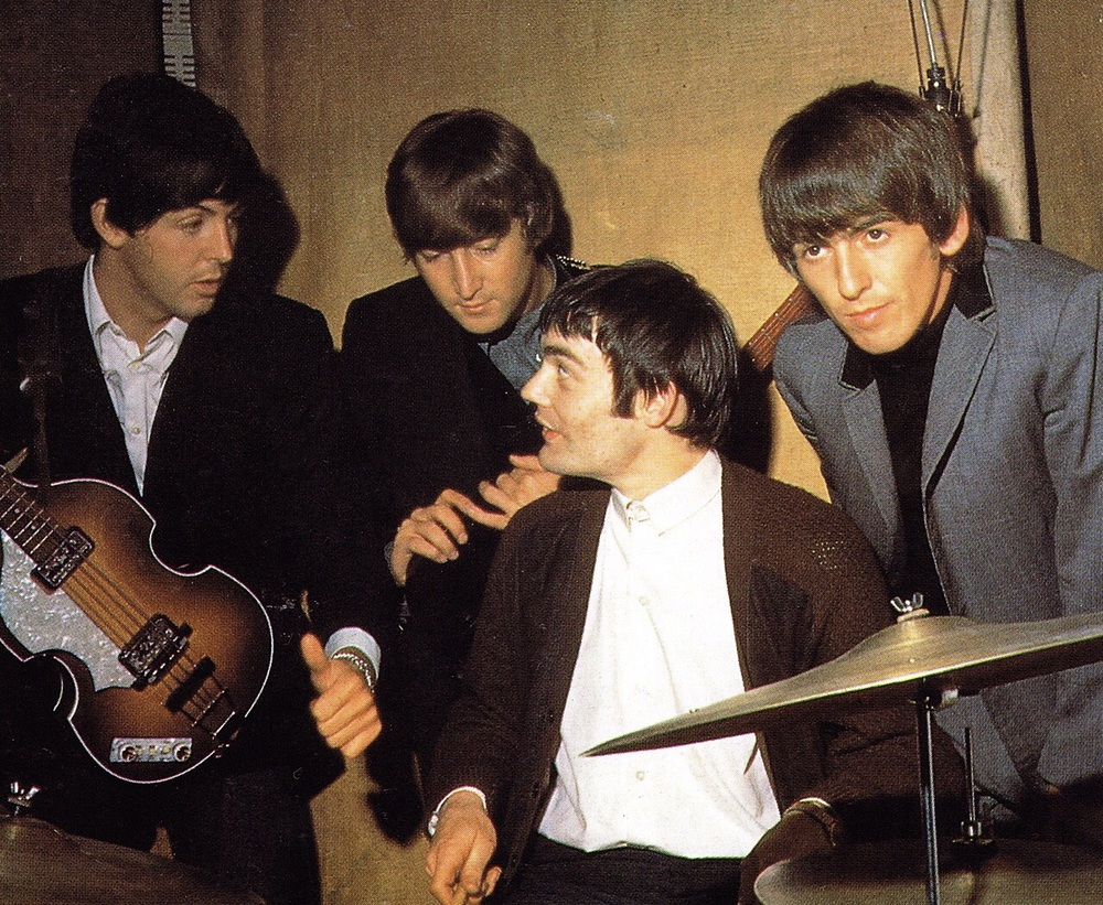 The Beatles with temp drummer Jimmie Nicol, 1964.