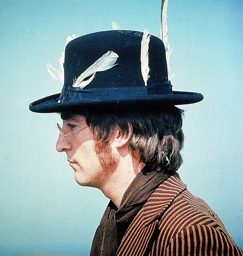 John Lennon during the filming of Magical Mystery Tour, 1967.