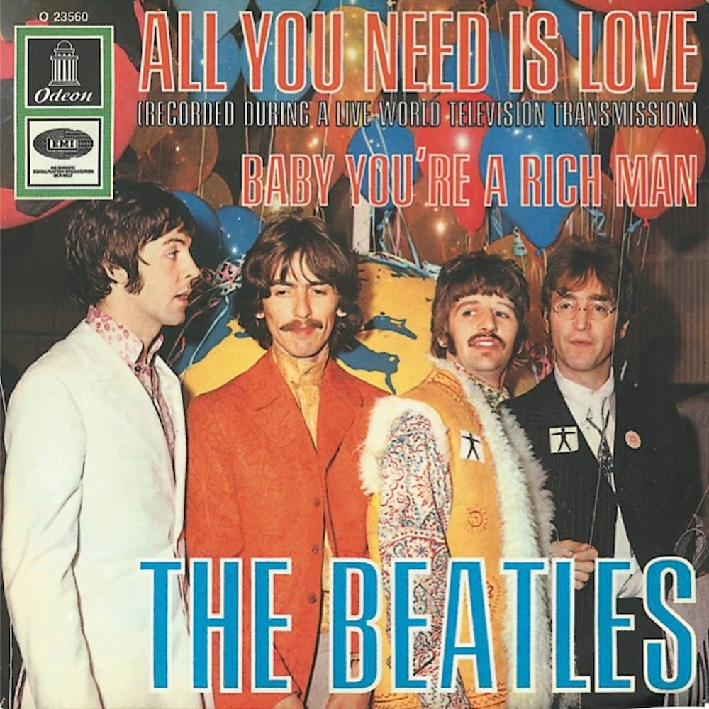 All You Need Is Love/Baby You're a Rich Man single, 1967.