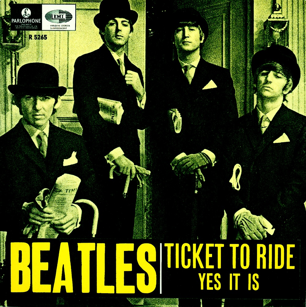 Ticket to Ride/Yes It Is single, 1965.