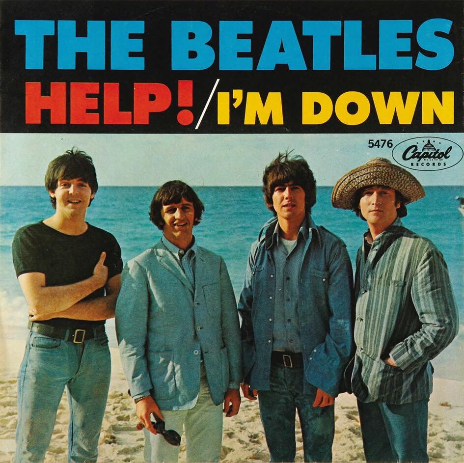 Help!/I'm Down single, 1965.