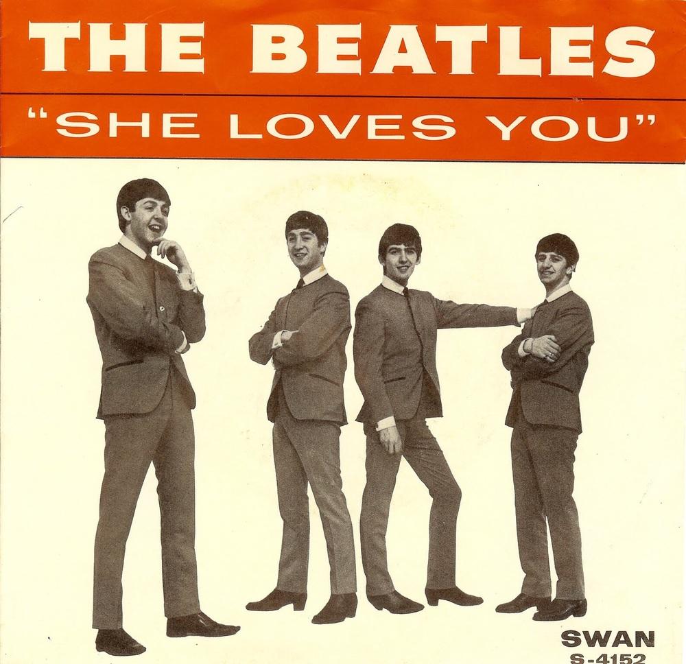 She Loves You single, 1963.