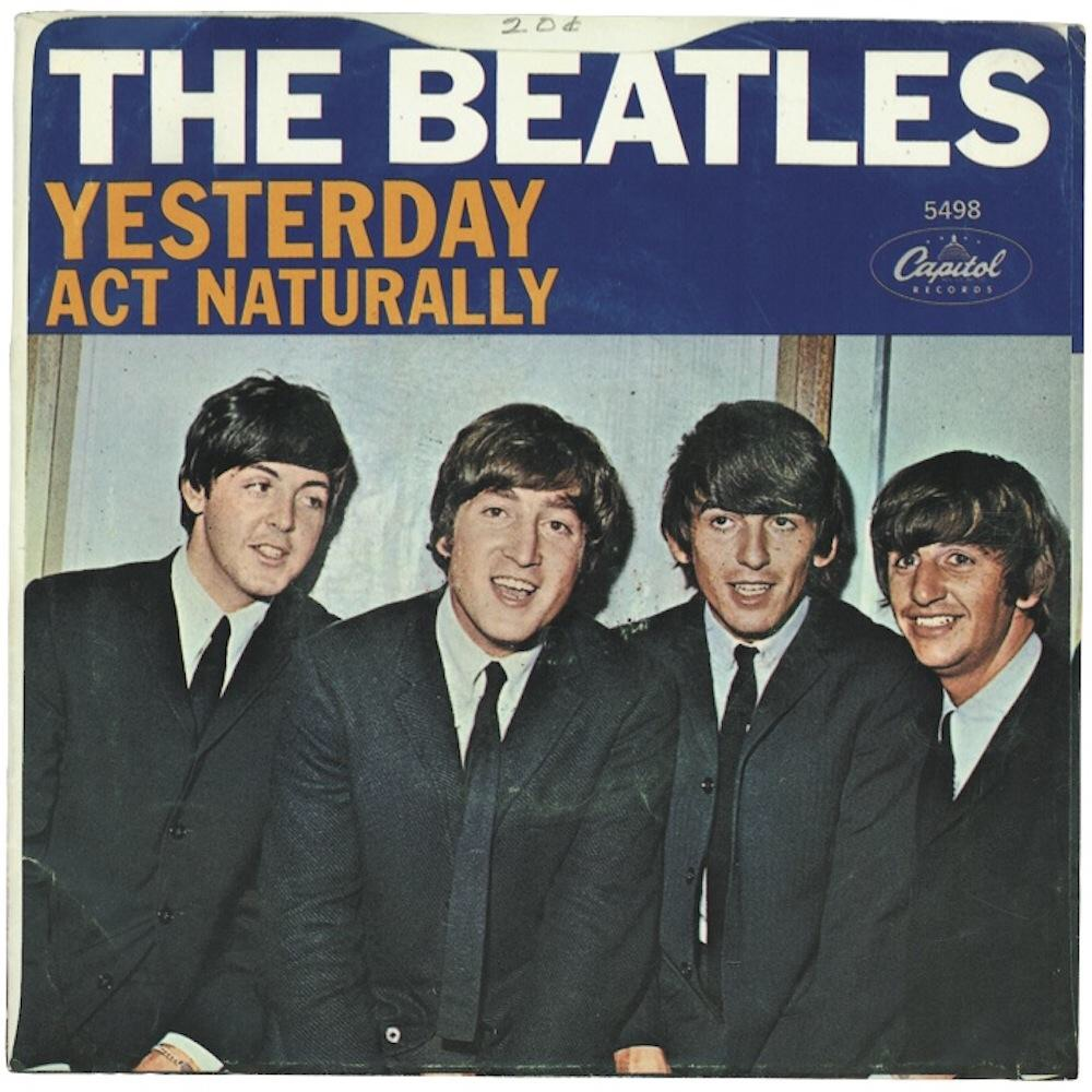 Yesterday/Act Naturally single, 1965.