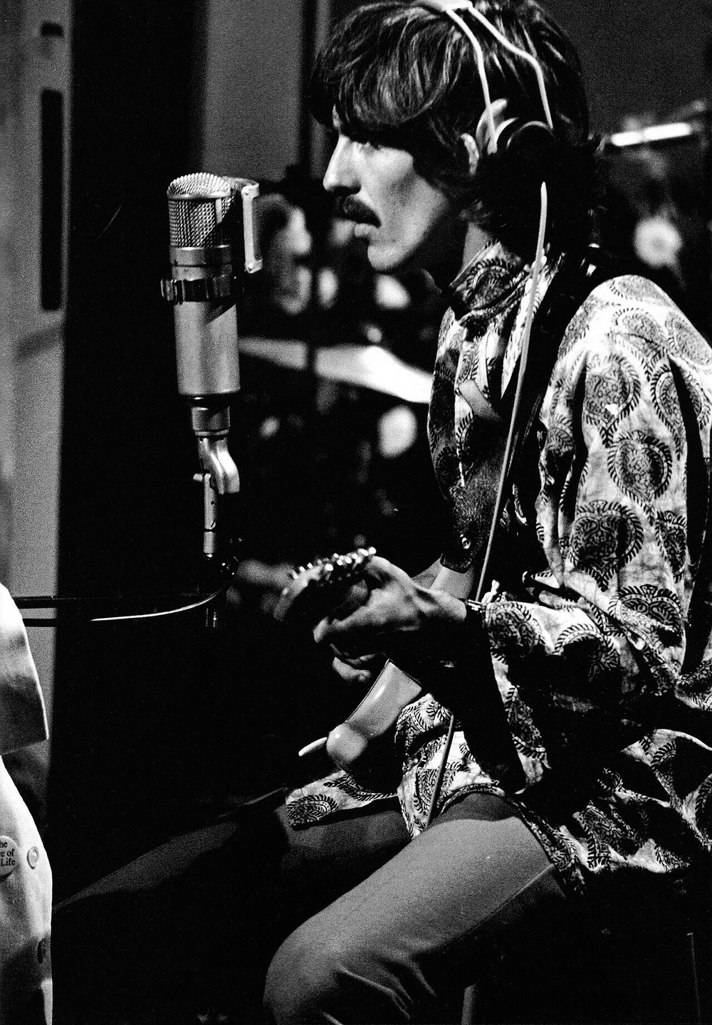 George Harrison recording All You Need Is Love, 1967.