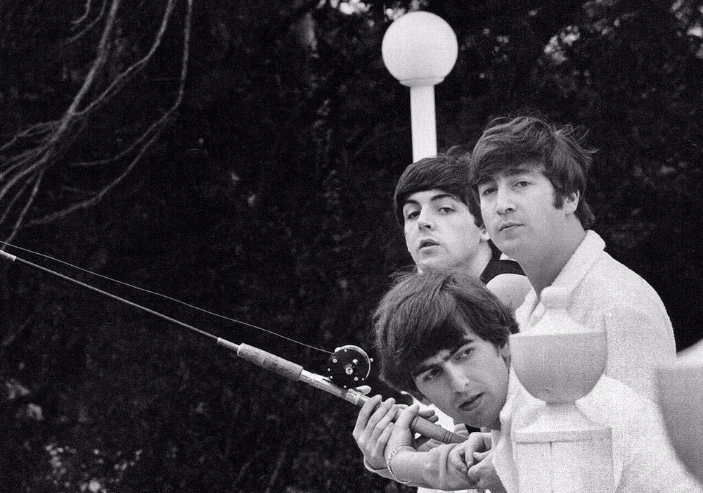 The Beatles fishing in Miami, Florida, 1964.