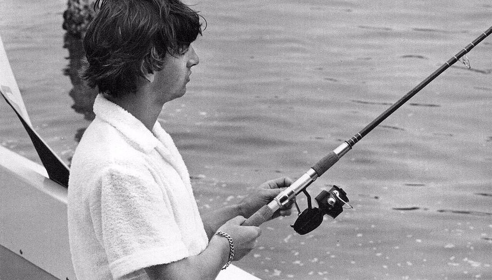 Ringo Starr fishing in Miami, Florida, 1964.