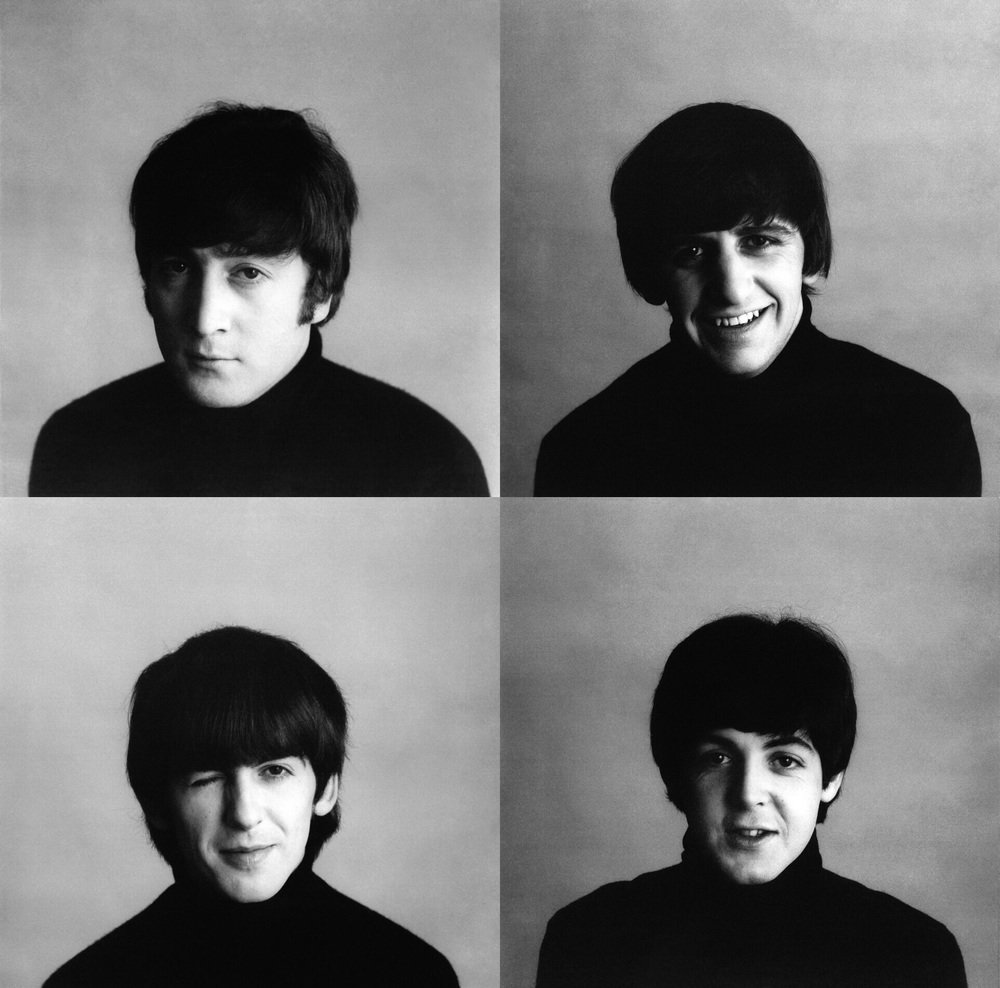 The Beatles' photo shoot for A Hard Day's Night, 1964.