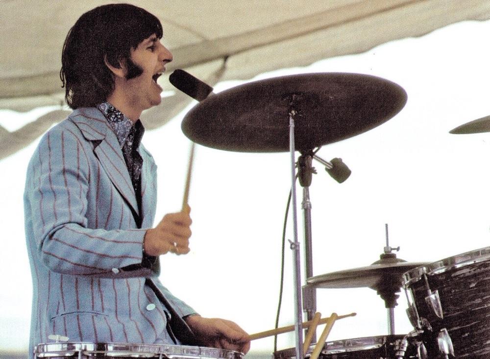 Ringo Starr playing Crosley Field, Cincinnati, August 21st 1966.