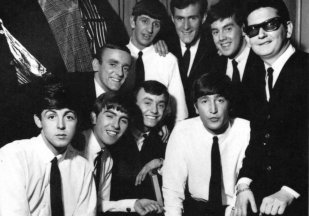 The Beatles with Roy Orbison, 1963.