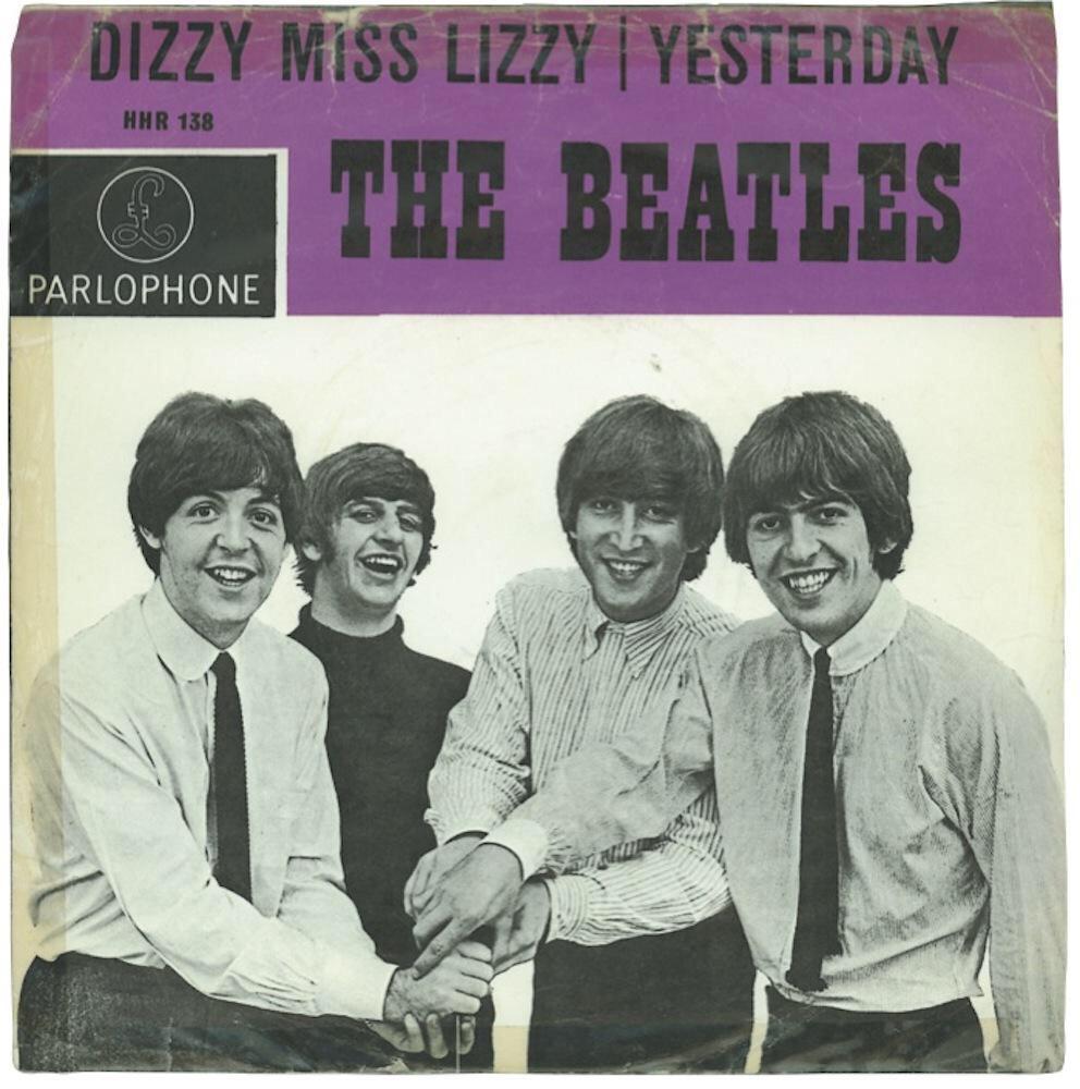 Dizzy Miss Lizzy/Yesterday single, 1965.