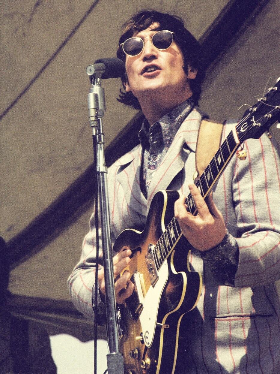 John Lennon playing Crosley Field, Cincinnati, August 21st 1966.