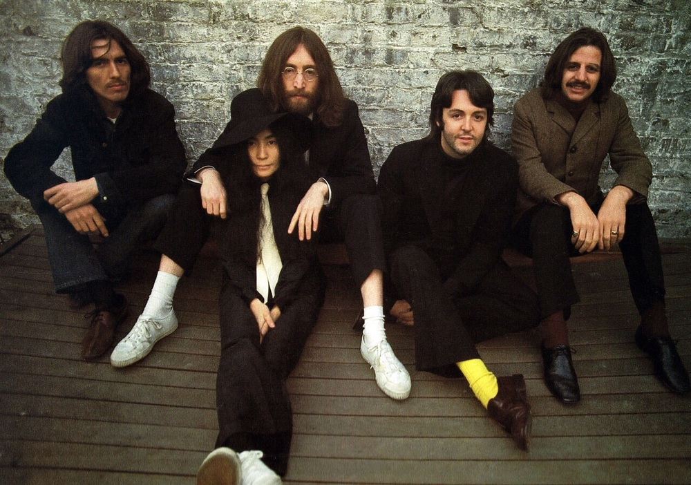 Rare pic of the Beatles with Yoko Ono, 1969.