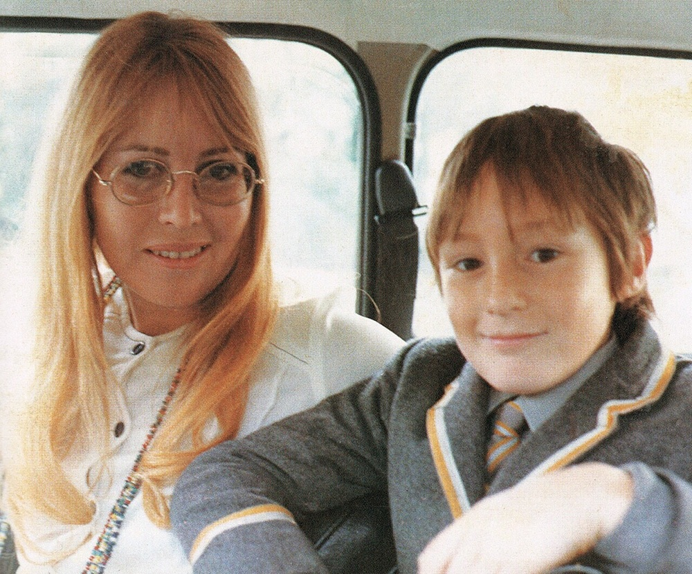 Cynthia and Julian Lennon, circa 1971.