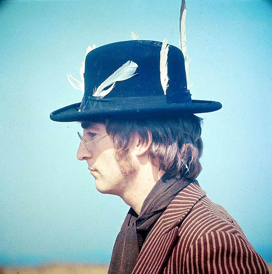John Lennon on the set of Magical Mysery Tour, 1967.