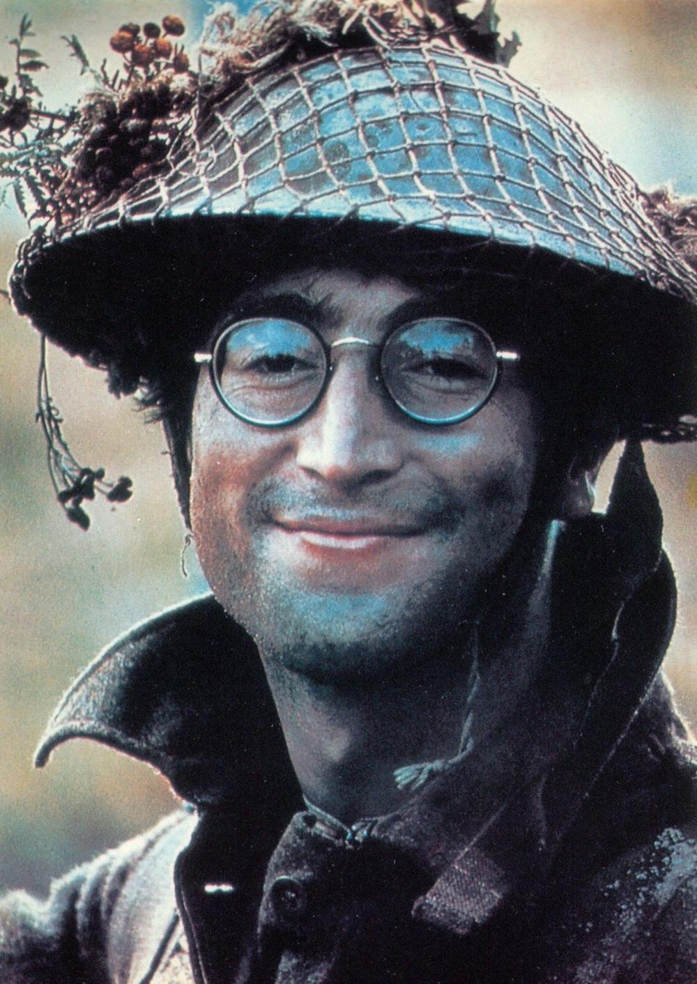 John Lennon on the set of How I Won the War, 1966.