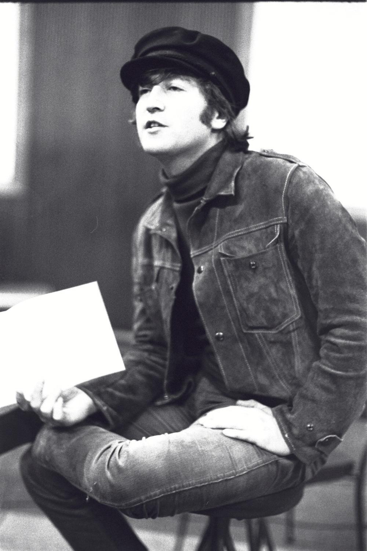 John Lennon In the studio, 1965.