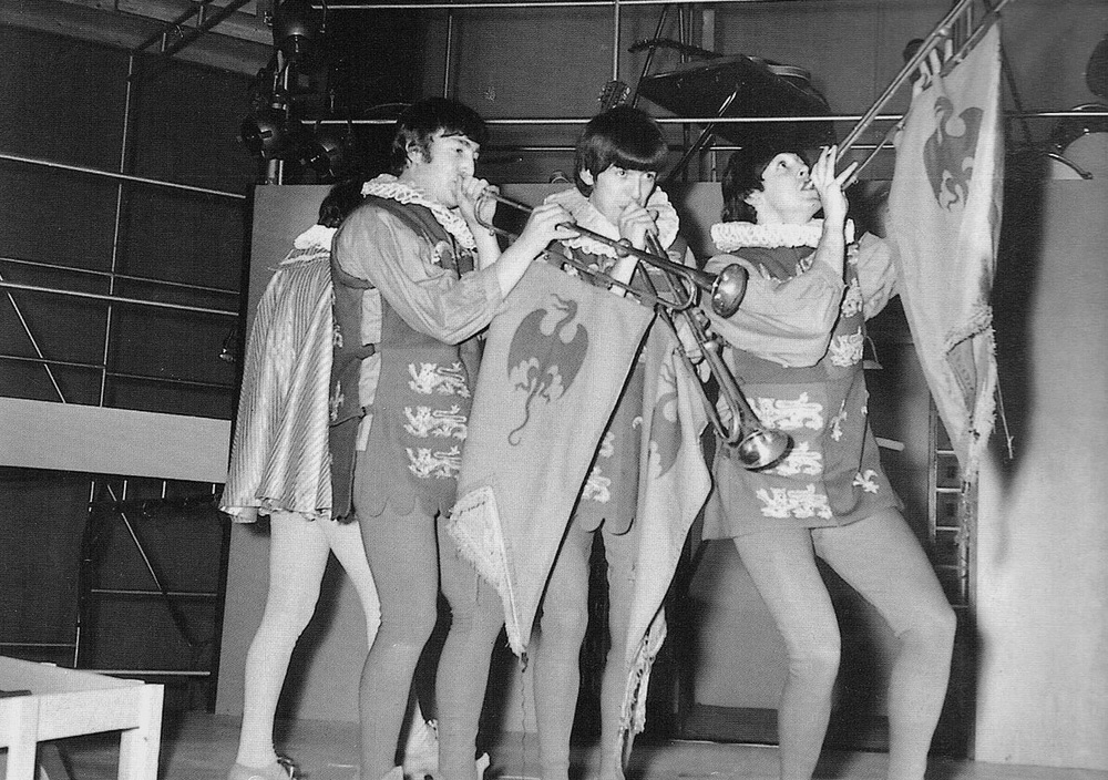 The Beatles celebrating Shakespeare's 400th birthday at Rediffusion's Wembley Studios, London, April 28th, 1964.